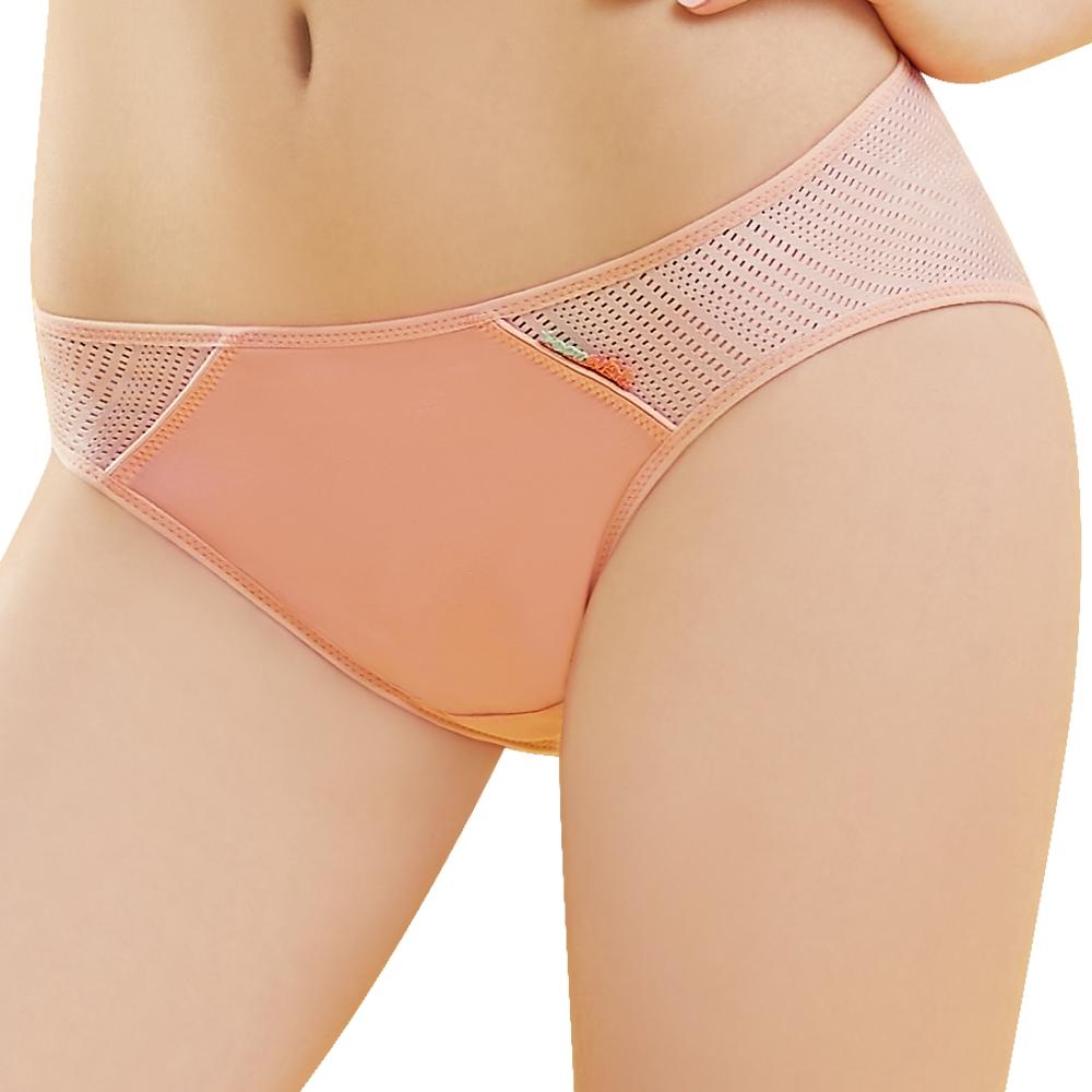 SWEAR 思薇爾 活力go學院風系列M-XL素面低腰三角內褲(暖橙色)