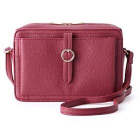 (ピンクアドベ) pink adobe 丸バックルコンビショルダー 76407041 00 ボルドー(064)