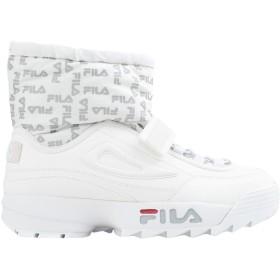 《セール開催中》FILA HERITAGE レディース スニーカー&テニスシューズ(ハイカット) ホワイト 5.5 紡績繊維 Disruptor low wmn
