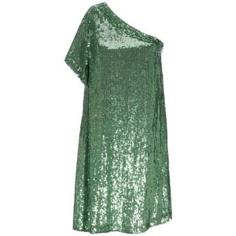 《セール開催中》P.A.R.O.S.H. レディース ミニワンピース&ドレス グリーン S レーヨン 100% / ポリ塩化ビニル