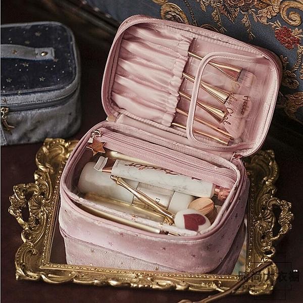 化妝包大容量化妝品收納包女隨身便攜式手提化妝袋【時尚大衣櫥】