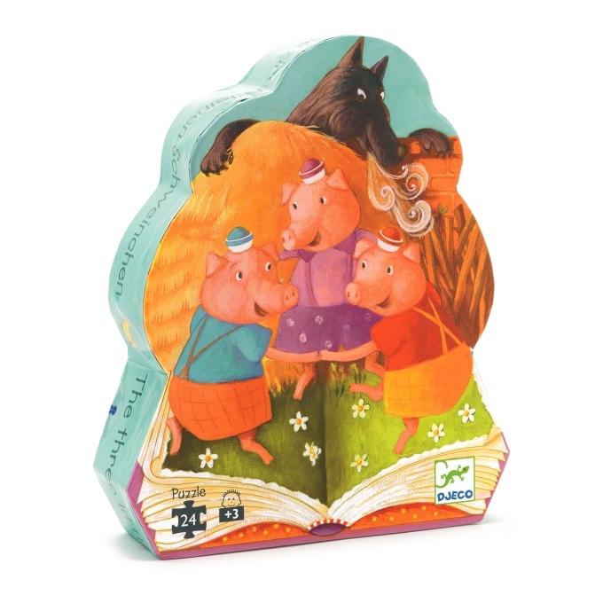 法國智荷 Djeco 拼圖屋-三隻小豬