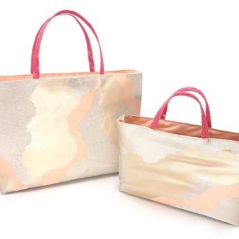 ハンドメイド 帯バッグ リメイク着物帯 帯締め サブバッグ 帯トートバッグ バッグインバッグSET