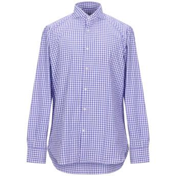 《セール開催中》GIAMPAOLO メンズ シャツ パープル 42 コットン 100%