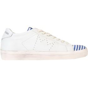 《セール開催中》LEATHER CROWN レディース スニーカー&テニスシューズ(ローカット) ホワイト 40 革 / 紡績繊維