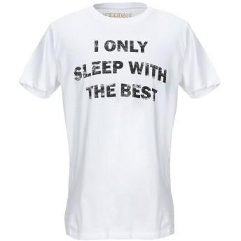 《セール開催中》HAPPINESS メンズ T シャツ ホワイト M コットン 100%