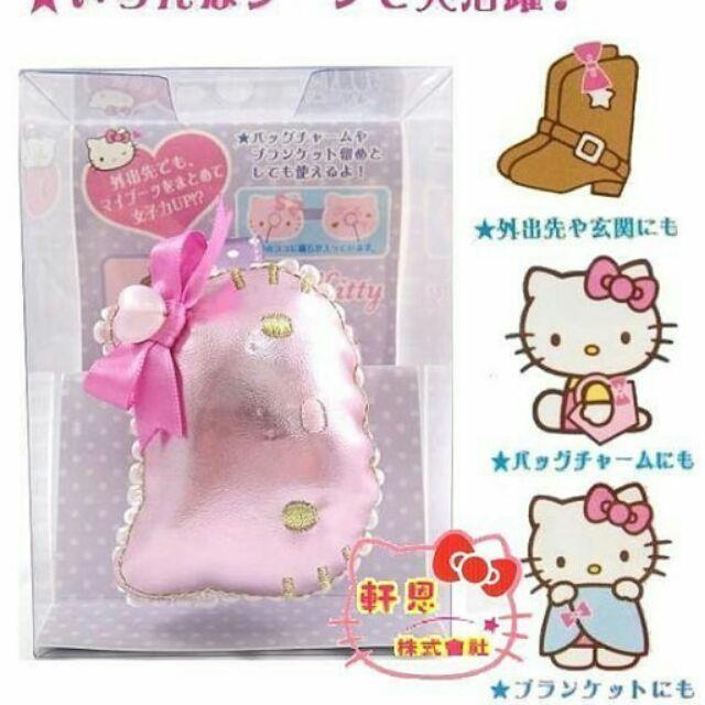 《軒恩株式會社》KITTY 日本三麗鷗 可愛臉型 靴子夾 強力磁鐵 支撐夾 磁鐵夾 641576