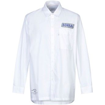 《セール開催中》BONSAI メンズ シャツ ホワイト M コットン 100%