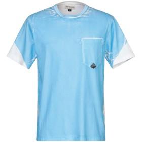 《セール開催中》RO ROGER'S メンズ T シャツ アジュールブルー L コットン 100%