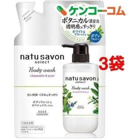 ソフティモ ナチュサボン セレクト ホワイト ボディウォッシュ リフレッシュ 詰替 ( 360mL3袋セット )/ ソフティモ