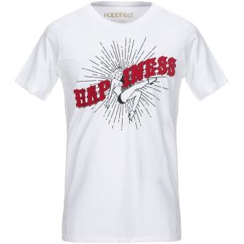 《セール開催中》HAPPINESS メンズ T シャツ ホワイト S コットン 100%