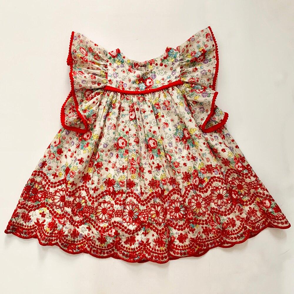 [預購]美國品牌Pippa and Julie紅雕花洋裝【12m-6y】女嬰/女童/童裝/洋裝/手工童裝