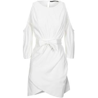 《セール開催中》ANNARITA N レディース ミニワンピース&ドレス ホワイト 42 レーヨン 95% / ポリウレタン 5%