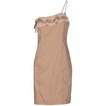 《セール開催中》LOIZA by PATRIZIA PEPE レディース ミニワンピース&ドレス サンド 46 コットン 65% / ナイロン 32% / ポリウレタン 3%