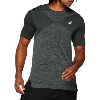 ASICS アシックス シームレスショートスリーブトップ メンズアパレル Tシャツ・ポロシャツ ストーングレー杢 2XL