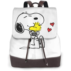 Snoopy スヌーピー 36 リュックサック レディース 高級本革 レザー バック 女子 人気 通学 OL 通勤 旅行 防撥水 軽量 手提げバッグ