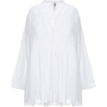 《セール開催中》EUROPEAN CULTURE レディース シャツ ホワイト S コットン 70% / ラミー 29% / レーヨン 1%