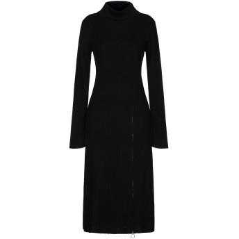 《セール開催中》GESTUZ レディース 7分丈ワンピース・ドレス ブラック XS ウール 50% / アクリル 50%