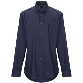 《セール開催中》DEL SIENA メンズ シャツ ダークブルー 44 コットン 70% / ナイロン 27% / ポリウレタン 3%
