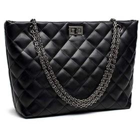 MMA-LX-BAOBAO スタイリッシュかつ甘美なスタイルのダイヤモンドのチェック羊皮ショルダーバッグ (Color : Black)