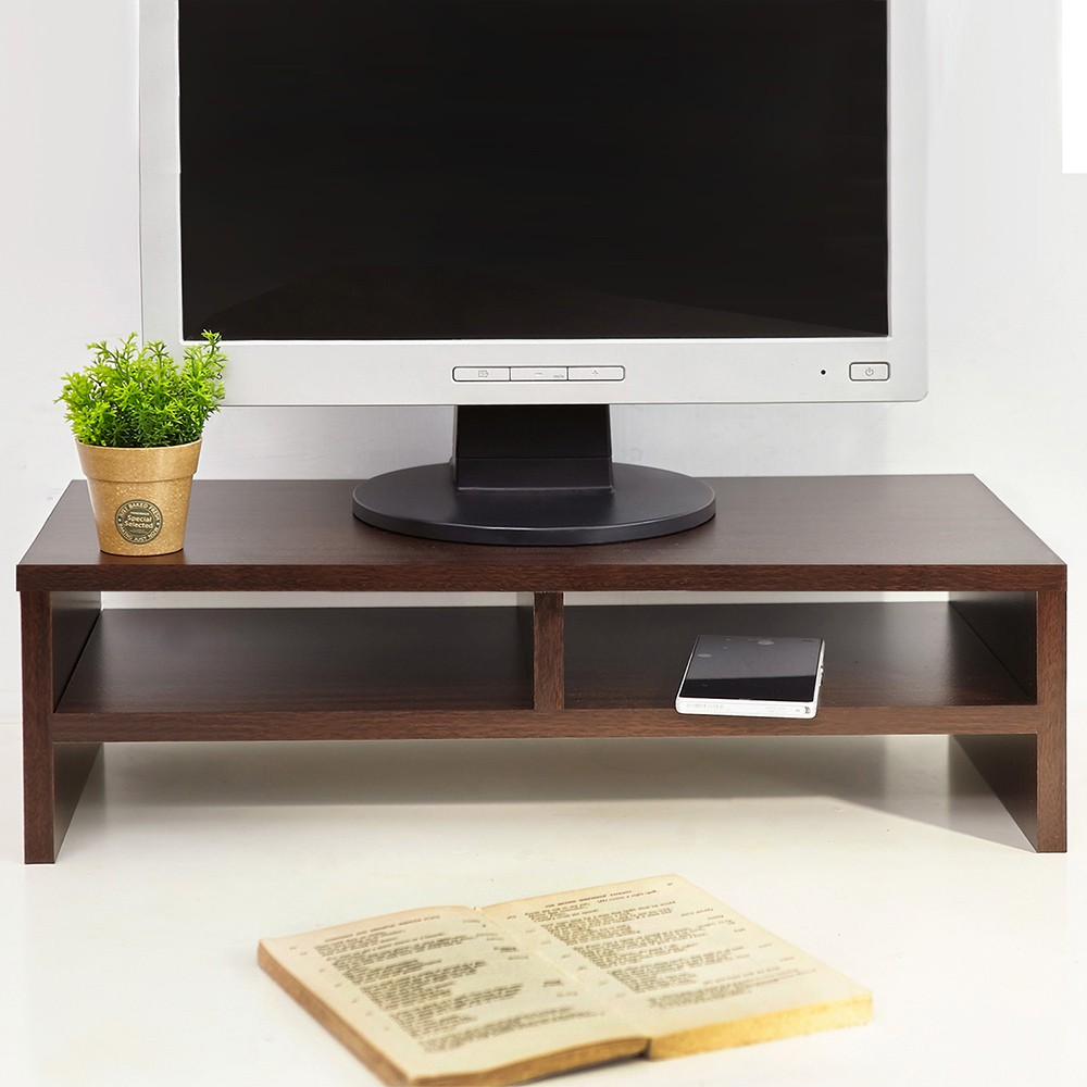 MIT環保材質雙層桌上架【誠田物集】電腦架/鍵盤架/收納架/螢幕架/置物架/電視架 ST015