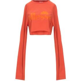 《セール開催中》ELLESSE レディース T シャツ オレンジ 10 コットン 100%