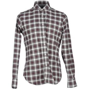 《セール開催中》ELEVENTY メンズ シャツ グレー 42 コットン 100%