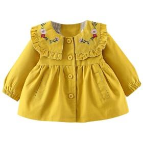 キッズトレンチコートフード付きコート女の子子供服 キッズ 女の子 スプリング コートベビー服子供服女の子コート普段着 旅行 プレゼント