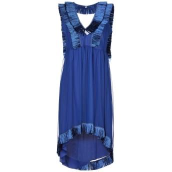 《セール開催中》RAME レディース ミニワンピース&ドレス ブルー 2 ポリエステル 100% / アセテート / シルク / 天然ラフィア