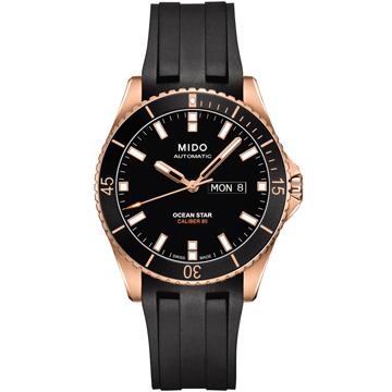 MIDO 美度 海洋之星 動力儲存80專業200米潛水機械錶(黑/42mm) M0264303705100