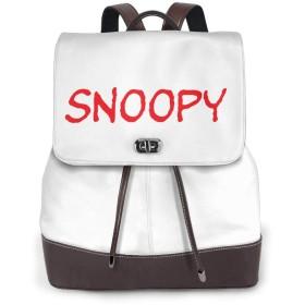 Snoopy スヌーピー 50 リュックサック レディース 高級本革 レザー バック 女子 人気 通学 OL 通勤 旅行 防撥水 軽量 手提げバッグ