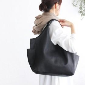 【受注製作*お届けは2月中旬】本牛革レザー トートバッグ nim (ブラック)