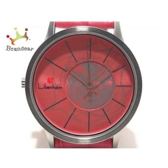 リベンハム Libenham 腕時計 LH-90036 レディース 革ベルト/裏スケ ピンク   スペシャル特価 20200226