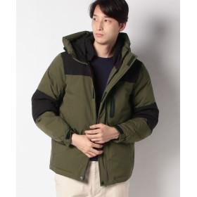 【20%OFF】 スタイルブロック ストレッチ中綿フードジャケットコート メンズ オリーブ L 【STYLEBLOCK】 【タイムセール開催中】