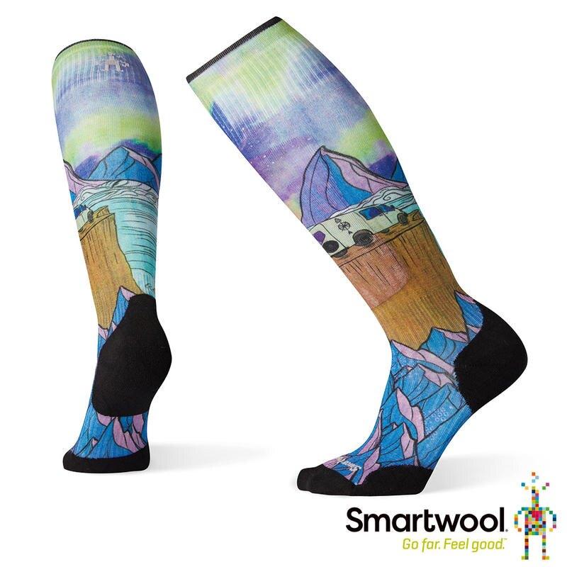 ├登山樂┤美國 SmartWool 羊毛襪 女PhD滑雪輕量菁英減震型PRINT高筒襪-夢想 # SW001185150
