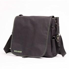 Solhaus メンズ おむつバッグ お父さん用メッセンジャーバッグ ワイプポケット付き ベビーカーストラップ
