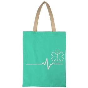 Paramedic Heartbeat Thin White Line レディース キャンバストートバッグ ハンドバッグキャンバスショルダーバッグ通勤通学 大容量 軽量