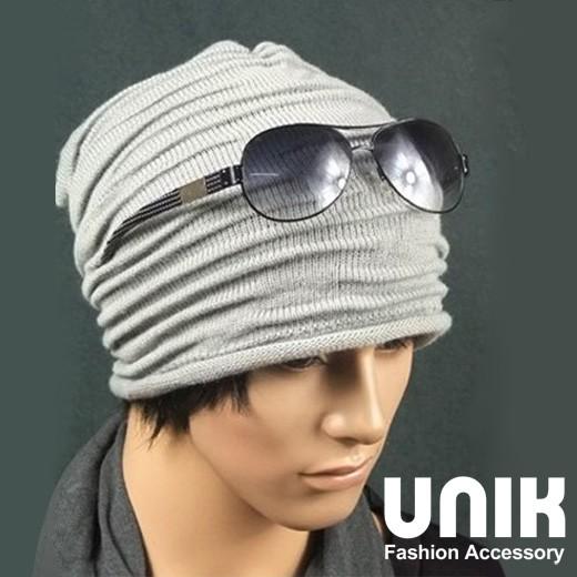 【現貨】UNIK雅痞簡約時尚風針織帽(帥性灰)