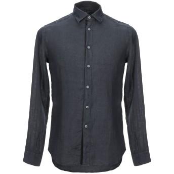 《セール開催中》HAVANA & CO. メンズ シャツ ダークブルー 39 ラミー 100%