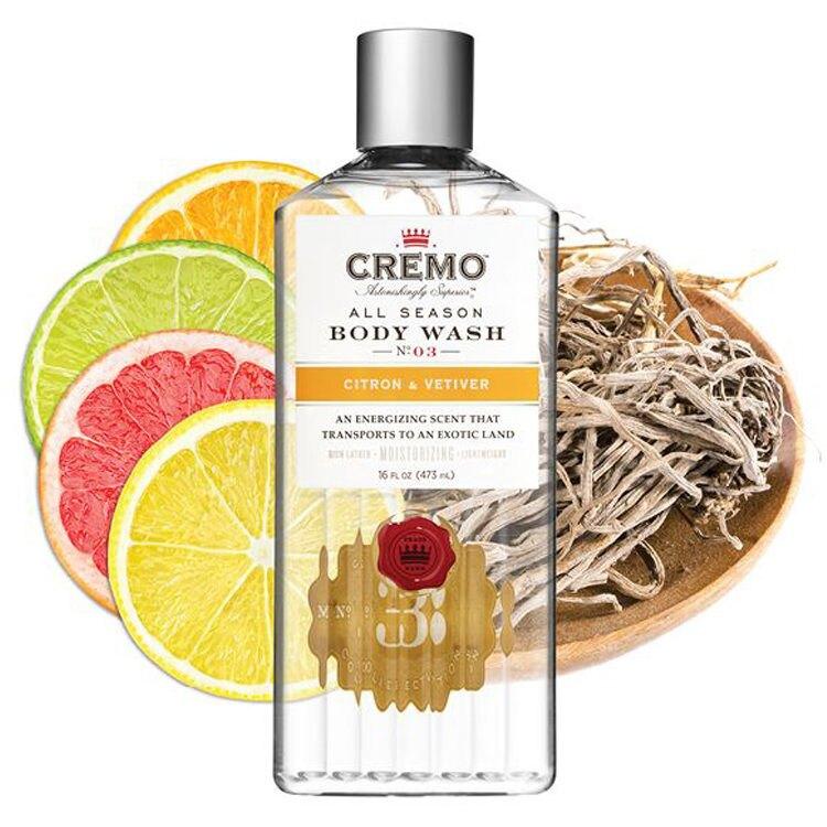 【紳士用品專賣】美國 Cremo - No.3 沐浴露(柑橘香根草)