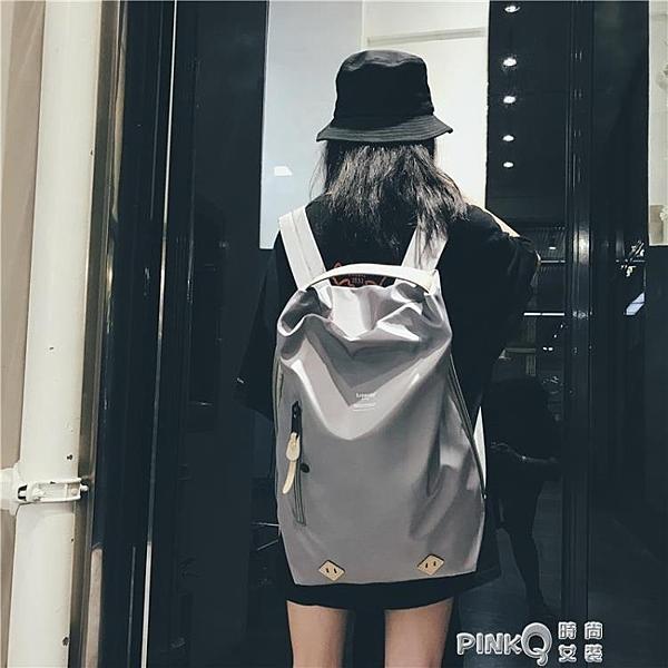 時尚潮流健身旅行背包女INS 超火雙肩包旅游大容量休閒輕便書包男(pink Q時尚女裝)