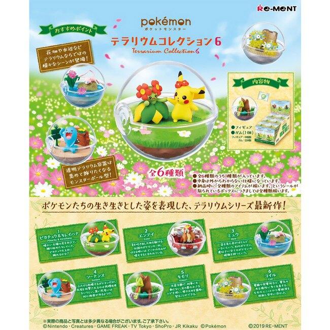 盒裝6款【日本正版】寶可夢 寶貝球 盆景品 P6 盒玩 擺飾 精靈球 水晶球 神奇寶貝 Re-Ment 204772