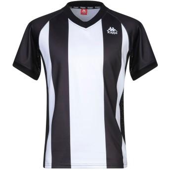 《セール開催中》KAPPA メンズ T シャツ ブラック M ポリエステル 100%