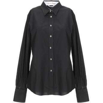 《セール開催中》LE SARTE PETTEGOLE レディース シャツ ブラック 42 コットン 97% / ポリウレタン 3%