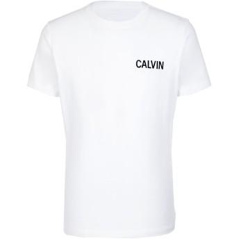 《セール開催中》CALVIN KLEIN JEANS メンズ T シャツ ホワイト S コットン 95% / ポリウレタン 5% CALVIN SLIM STRETCH