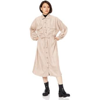 [ウィゴー] コーデュロイ ビッグ ポケット シャツ ワンピース レディース F Lベージュ
