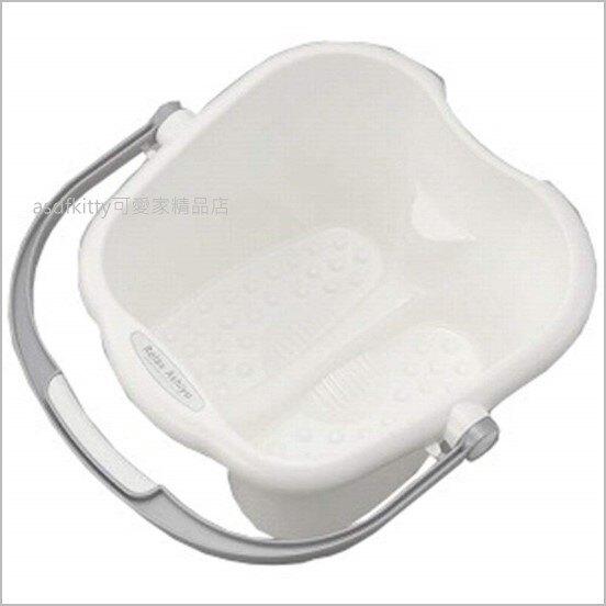 asdfkitty可愛家☆日本INOMATA泡腳桶/泡腳專用盆-白色-放鬆足湯-日本製