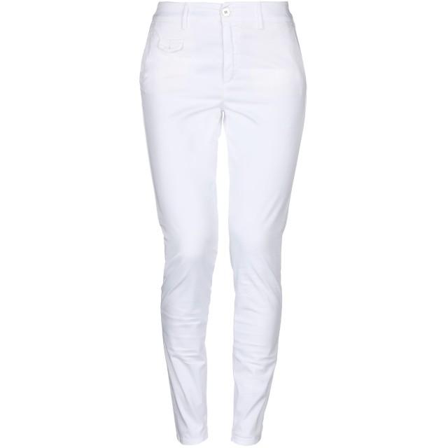 《セール開催中》MAISON CLOCHARD レディース パンツ ホワイト 25 コットン 98% / ポリウレタン 2%