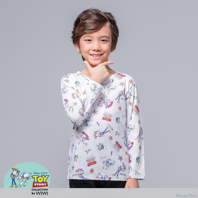 【WIWI】歡樂總動員溫灸刷毛圓領發熱衣(純淨白 童100-150)