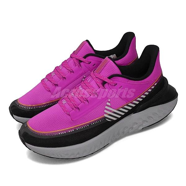 Nike 慢跑鞋 Wmns Legend React 2 Shield 粉紅 黑 女鞋 運動鞋 【ACS】 BQ3383-600